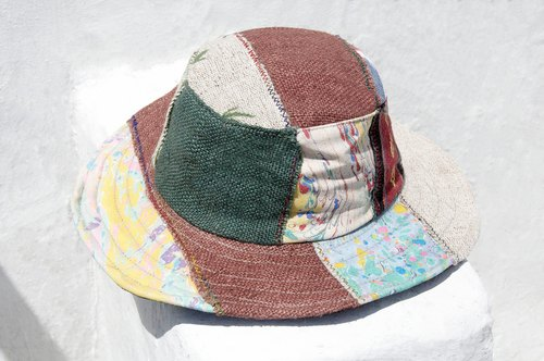 Ethnic stitching hand-woven cotton hat / knit hat / fisherman hat / visor / gentleman hat - stitching ethnic style