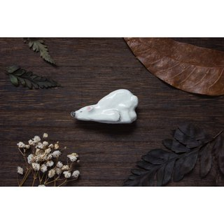 Pie Pie White Polar Bear Pins / Brooch