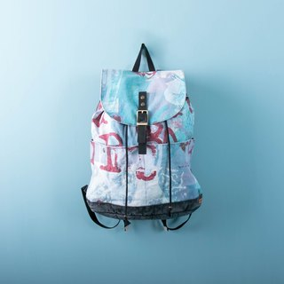 Drawstring Backpack Sky Blue