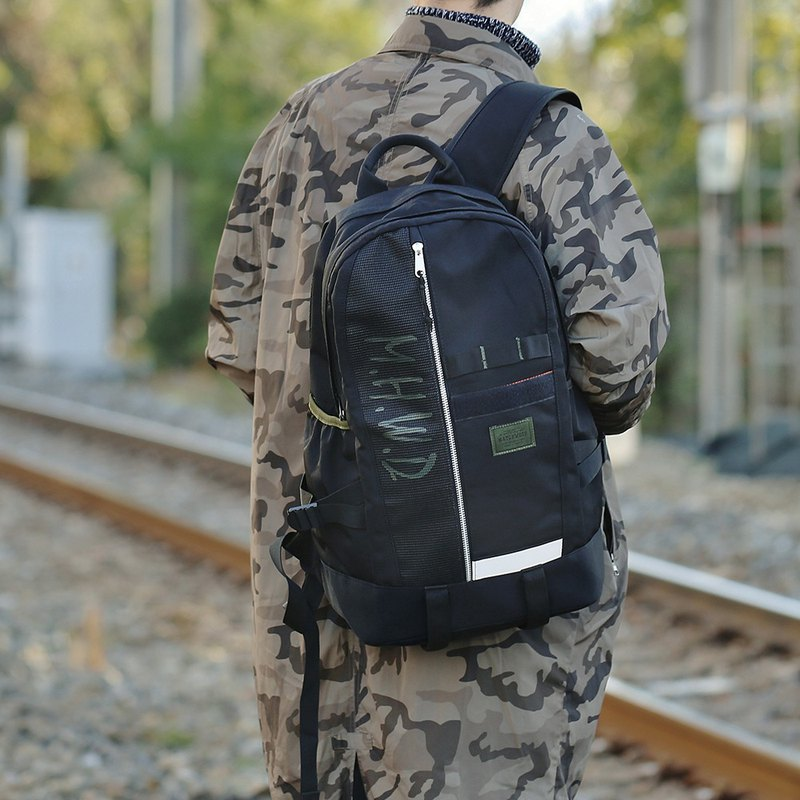 Military Backpack Matchwood Alpha Waterproof Laptop Backpack Silver Teeth Limited Edition