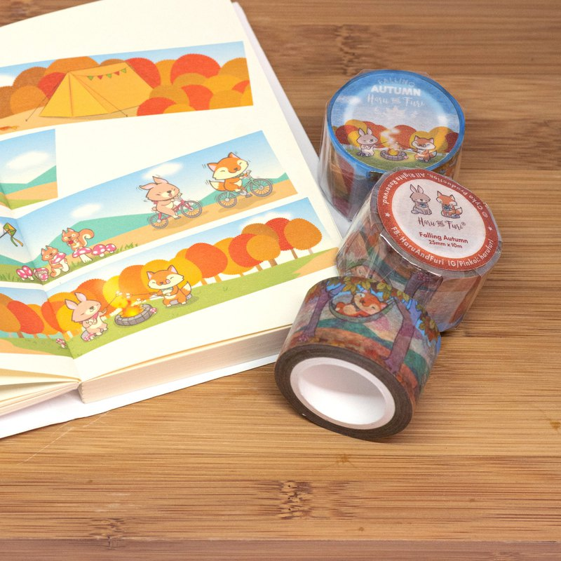Washi Masking Tape / Falling Autumn Washi Tape
