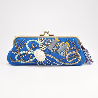 Sparkle and statement glasses and pen case, blue purse, one of a kind,  No,2