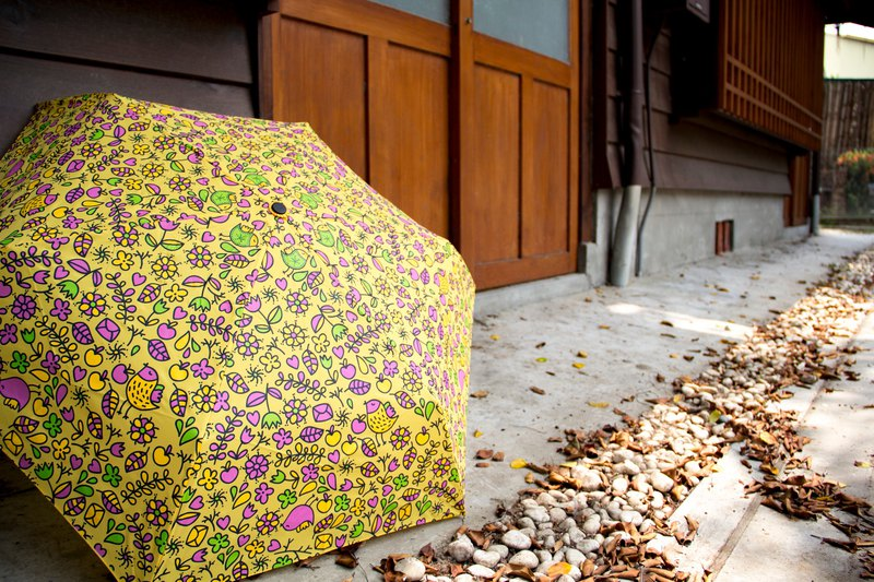 Ultra-light super-fine color bird printing umbrella