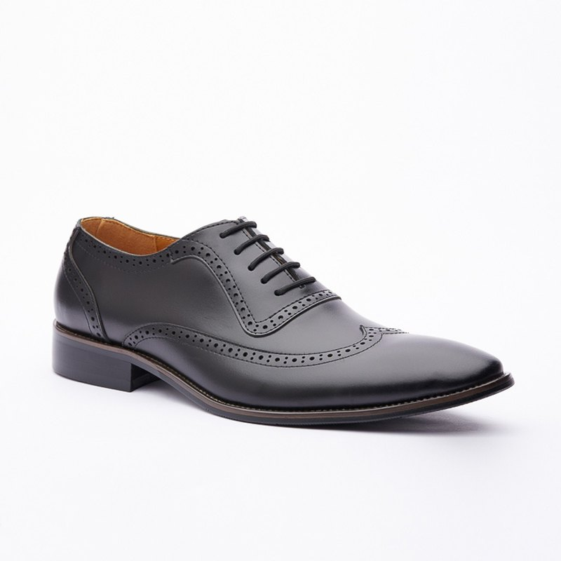 Kings Collection Genuine Leather Elva Leather Shoes KG80002 Black