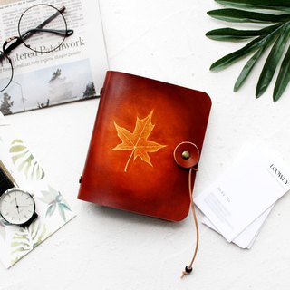 Maple Leaf Red Brown Leather Ticket Card Holder Business Card Package Card Card Case Card Set 40 Cards