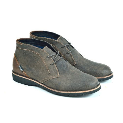 [Dogyball] simple Taiwan city men's lightweight leather desert boots / super breathable upper / sports insole / with a good finishing
