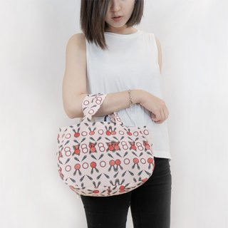 Smile bag Taro (white) Print