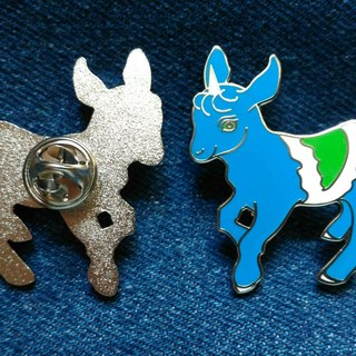 Goat Kid Go Veg goat baby vegan {vegan} hard enamel metal brooch - Hard Enamel Pin [Vegan Flag] [Animal Rights] [Livestock Liberation] [Unicorn]