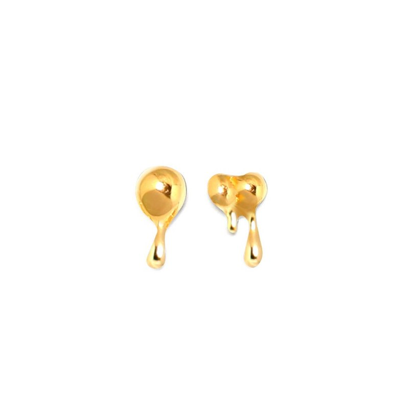 water Drop Earring golden water drop earrings