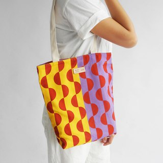 studio chiia - Original Pattern Design Tote- Wave Yellow