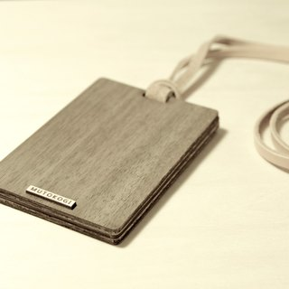 Minimalist Handmade Wooden ID Card Holder - Straight Ticket Card Holder Identification Card Holder