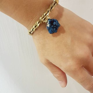 Copper hand made [blue purple quartz stone bracelet]