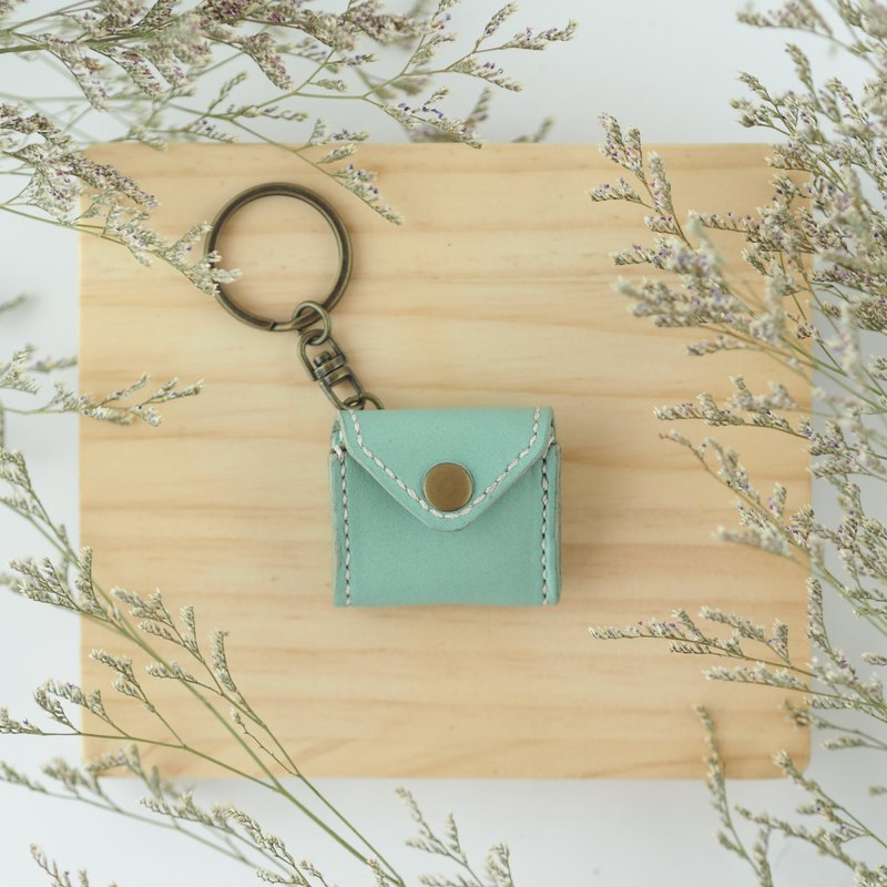 Mini chubby key ring macaron green small purse envelope styling necklace