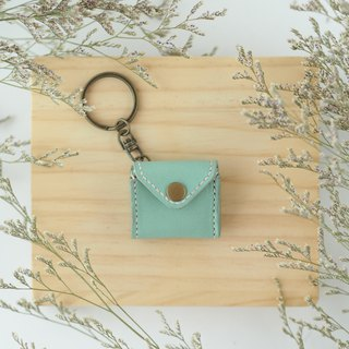 Mini chubby keychain Macaron green small wallet envelope styling necklace