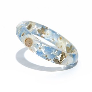 Alice Series [Blue] - Cloris Gift Flower Bangle