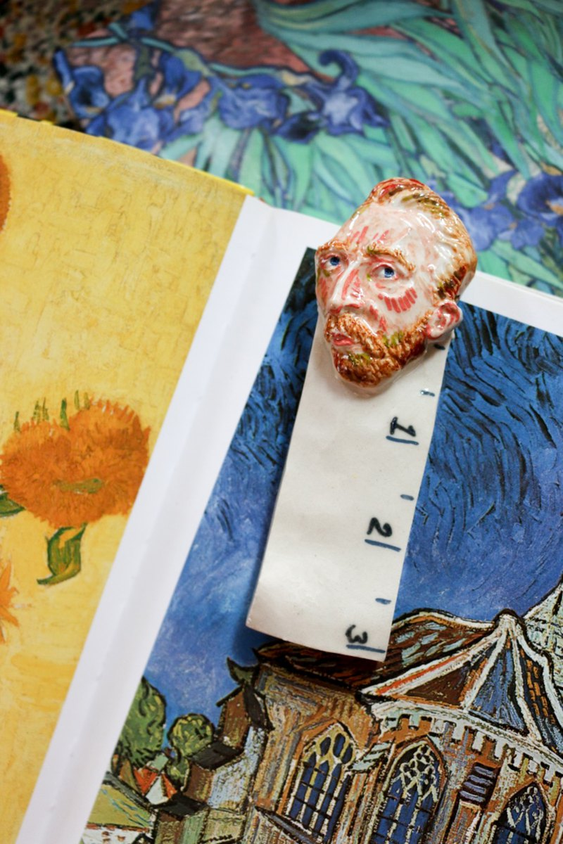 Ceramic Vangogh Bookmark No. 01