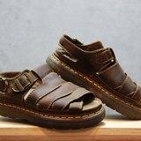 Tsubasa.Y 古著屋 咖啡色 004馬汀涼鞋,Dr.Martens England