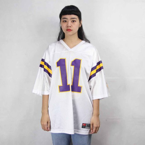 Tsubasa.Y ancient house 008 Nike white yellow and purple color summer ice jersey, jersey vintage