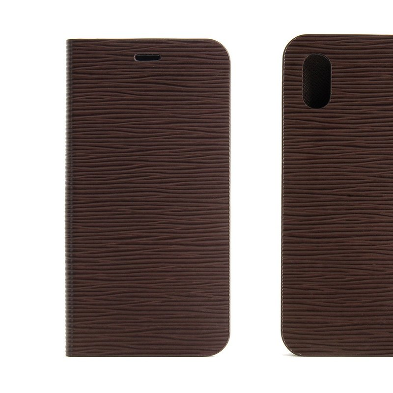 BEFINE iPhone X TASCA Leather Side Lift Case - Brown (8809402594283)