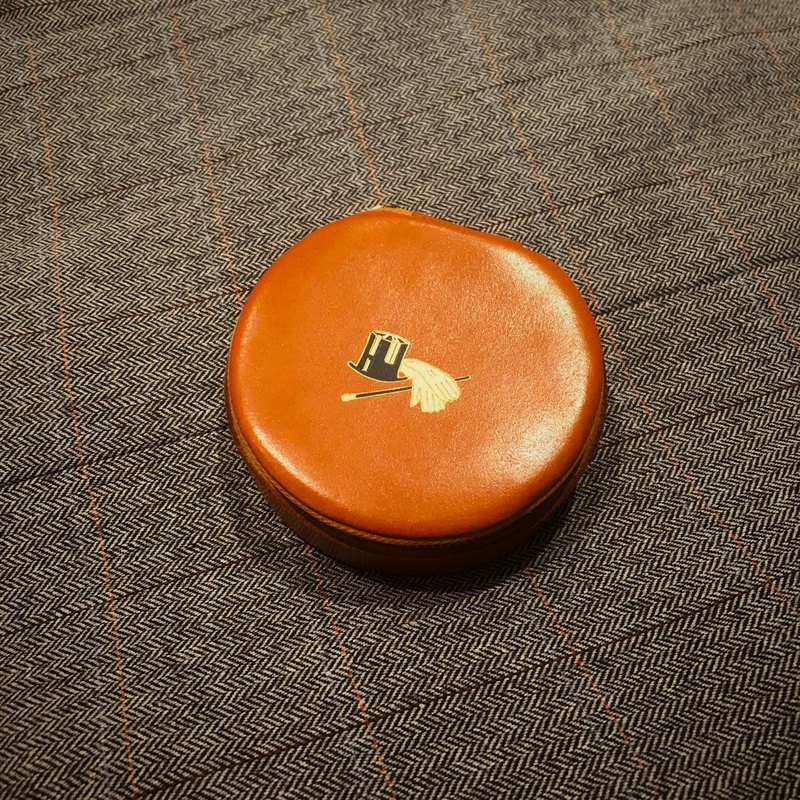 1960s-70s British leather cufflinks box