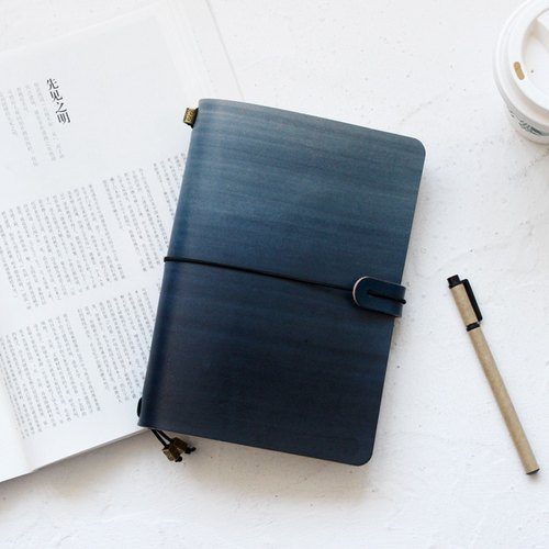 Graduation gifts such as 玮 Gradual coloring Shanhailan 22*15.5m A5 Handbook Leather notebook/Diary/Travel/Notebook Customized Free Lettering Exchanging Gifts Wedding Gifts Valentine Gifts Birthday Gift