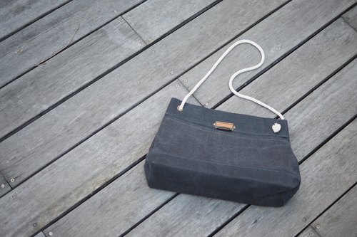 """Summer Bag"" Summer package beach bags oblique Me Bag Washed Grey"