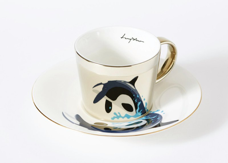 Luycho Mirror Cup & Saucer _ Killer Whale