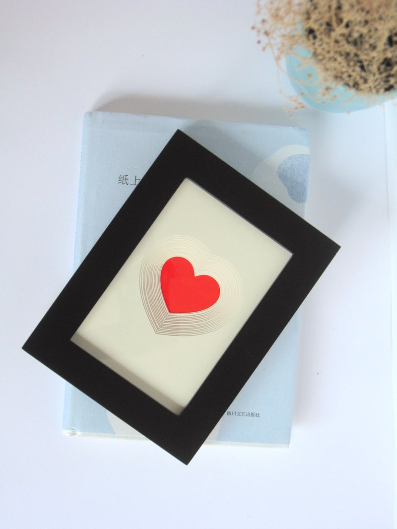 讓愛發光 紙雕夜光畫 愛心 創意情人節禮物