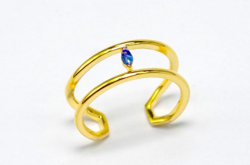 One of the decisive series: in situ] opal (Opal) 925 silver simple ring