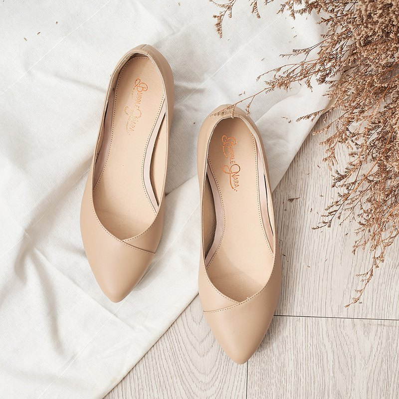Slow Four Steps Pointed Shoes-Mist Rose