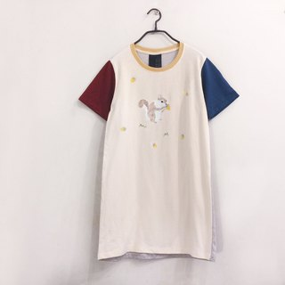 Squirrel - Enjoy Eating - T Shirt Dress / Onepiece