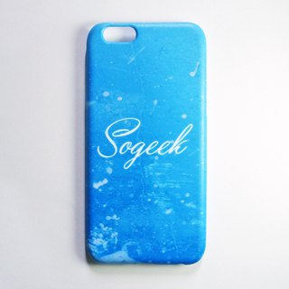 SO GEEK Mobile Shell Design Brand THE GRUNGE GEEK Street Spray Paint (Blue)
