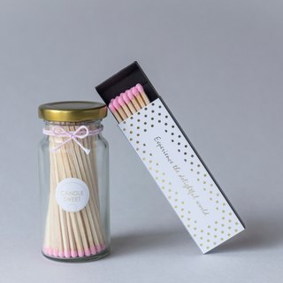 Long match glass canned combination: 1 can + 1 box - light pink (black / pink / pink purple optional)