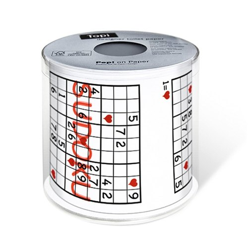 """Paper + Design"" toilet paper roll -SUDOKU"