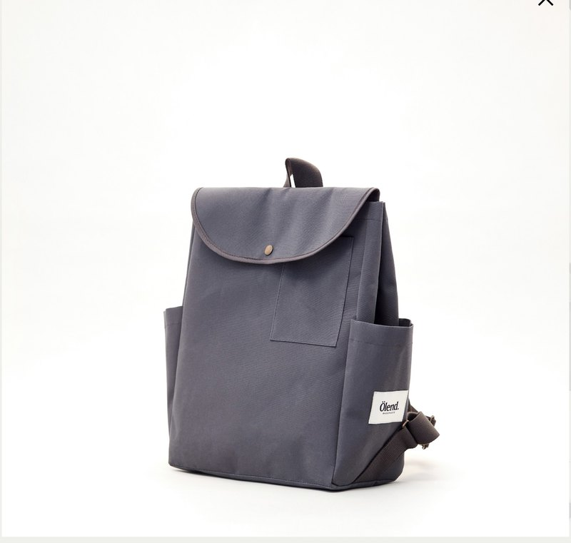 |Handmade in Spain | Ölend Kioto Canvas Backpack/Computer Bag (Grey Grey)