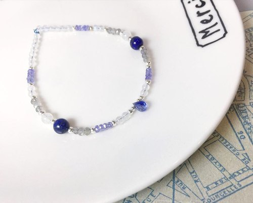 MH sterling silver natural stone custom series _ summer appearance _ kyanite