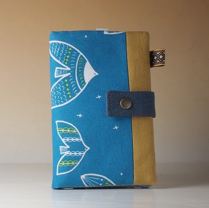 Multi-function passport holder / long cloth folder**birds**