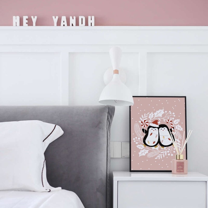 Penguin in the winter I-Interior Design, Wall Art, Home Decor, Nursery Print