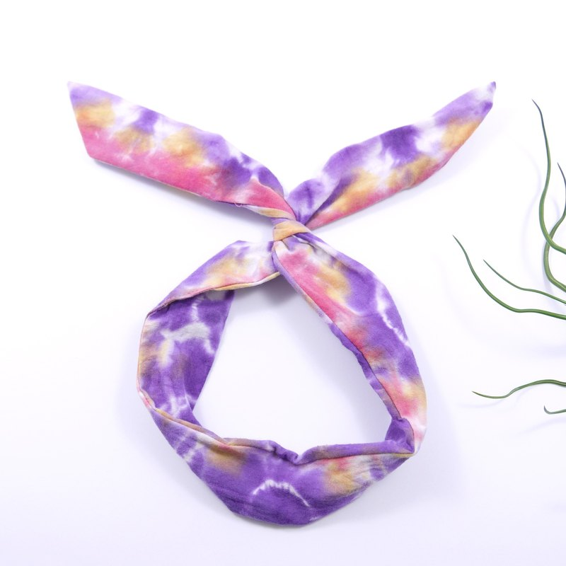 Tie dye/handmade/Headband [Birds of Paradise]