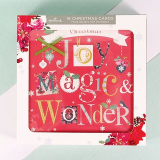 Unique English alphabet Christmas box card 3 models a total of 18 into [Hallmark-card Christmas series]