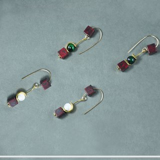 Modern Marble 14KGF Earrings 【Natural stones】【COOL LADIES】