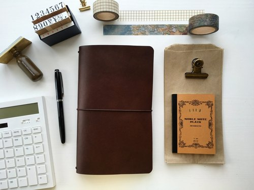 Espresso - Regular size Traveler's Notebook // Vegetable Tanned Leather