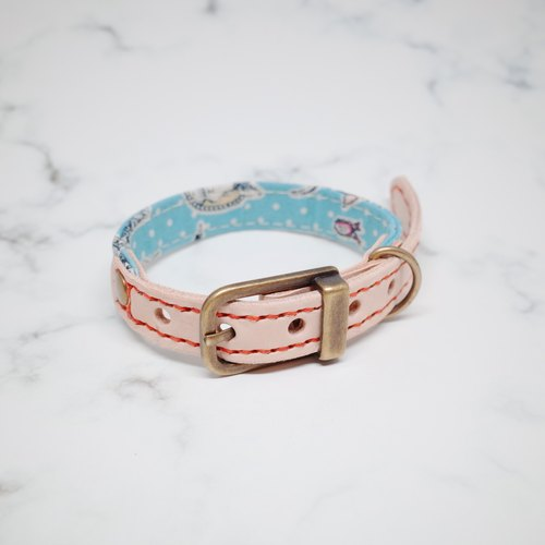 Dog collars, S size, light blue alice bow_DCT090421