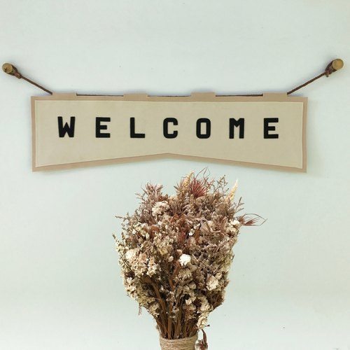 "FABRIC BANNER "" WELCOME"""