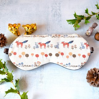 winter animals/white/sleep mask/winter/christmas