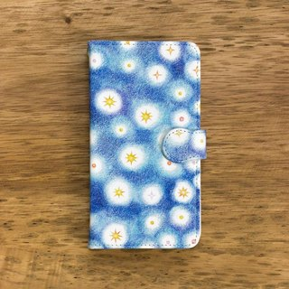 "Little night sky. Handbook type smart case ""stars in the night sky"" TSC - 148"