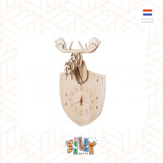 Silly, Wall clock DIY Moose wood