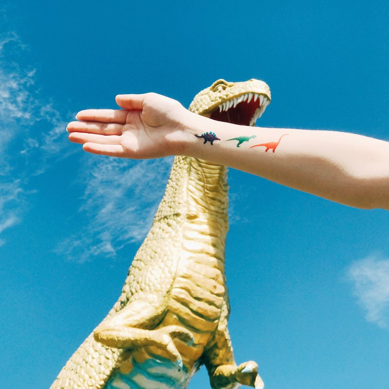 My Dear Tattoo / Temporary Tattoo /  Little Dinosaurs /2pcs
