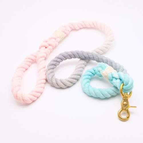 COTTON DOG LEASHES - RAINBOW UNICORN (100cm)