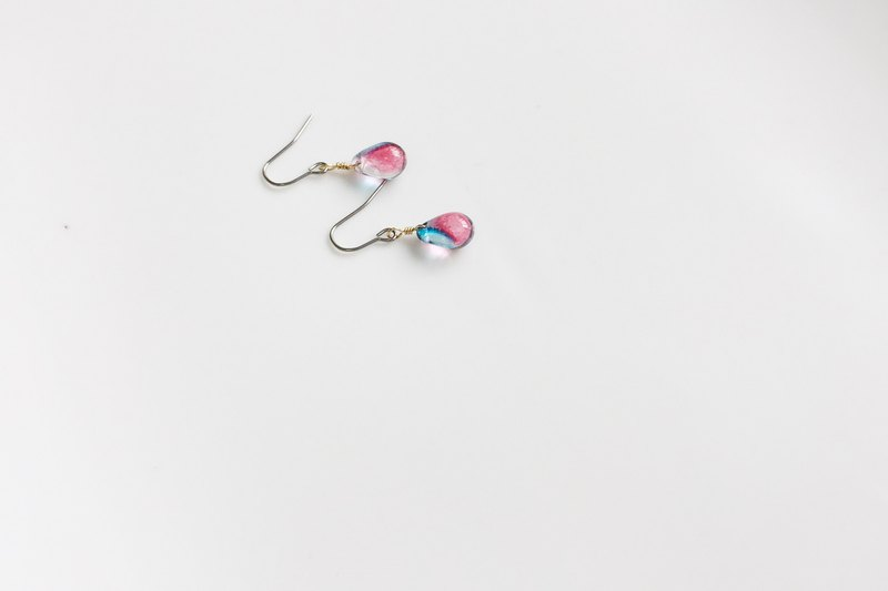 Transparent Sketch - PEACOCK Glass Styling Earrings